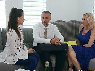 Fucked Sexy Blonde Cougar Devon On The Sofa - Keiran Lee