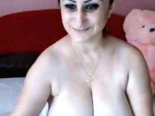 Sexy Huge-boobed Big Titty Woman Getting Naked And