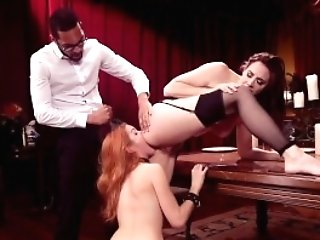 Ginger-haired And Dark-haired Victim Woman And Your Master