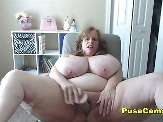 Us Granny Bouncing The Fattest Natural Tits In The World