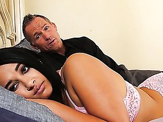Suntanned Big Titted Dark Haired Mummy Emori Pleezer Is Decently...