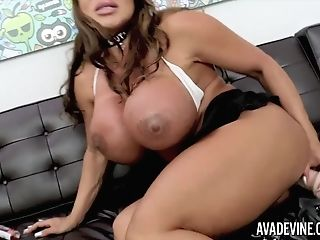 Ava Devine Pounds Her Taut Donk With A Fat Fake Penis