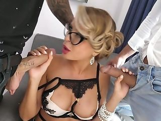 Poland Chick Joanna Bujoli Gets Dual Penetrated And Takes Popshots...