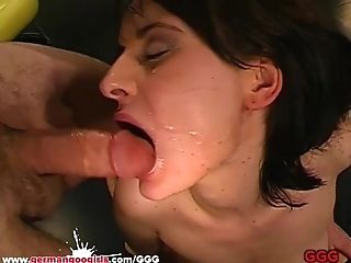 German Goo Women - Jizz Drinking Whore Loves Ass Fucking