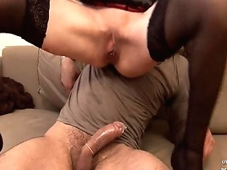 First-timer French Red-haired Housewife Buggered With Butt To Mouth