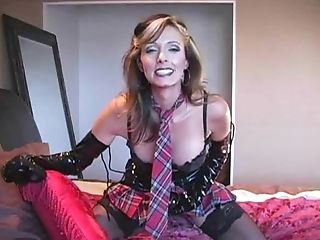 Buxom Matures Light-haired In Pvc And Stockings Gets A Big Lollipop...
