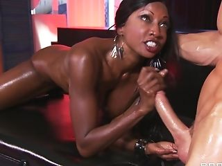 Black Hooker With Fat Melons Is Having Gonzo Interracial Fuckfest