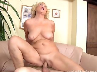 Matures Blonde Bbw Gets Her Vagina Worked Over By A Big Dicked Man