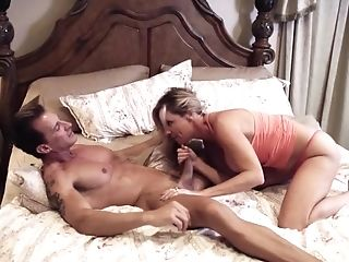 Blonde Mom In Little Little Undies Wraps Her Mouth Around An...