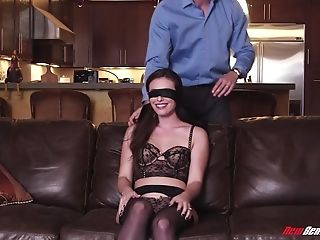 Eyes Covered Wifey Got Her Trimmed Muff Fucked By A Accomplish...