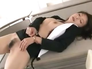 Big-titted Oriental Office Lady In A Suit Gets Her Snatch Creampied