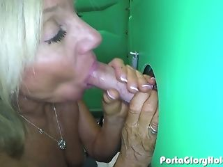 Nasty Blonde Mummy With Ocean Blue Eyes Wearing Jewelry Uses Both...