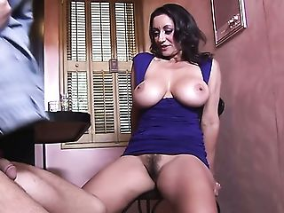 Lewd Barman Lures Huge-boobed Cougar Persia Monir For Some Steamy Fuck