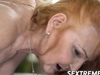 Granny Doggystyled Like A Biotch And Treated With Spunk In Mouth