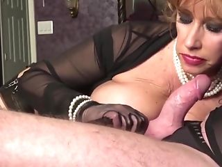 Black Widow Ginger Gets A Throatful By Deep Throating Her...
