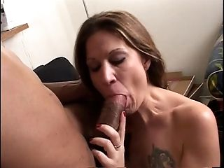 Horny woman gives guys thick massive lollipop a suck off