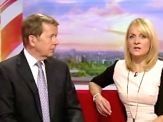 Louise Minchin - Mini Sundress And Black Stocking!!