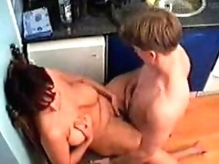 Mom Fucks Bf In The Kitchen