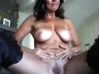 Pretty Ma In Boots Playing With Her Pierced Nips And Puss