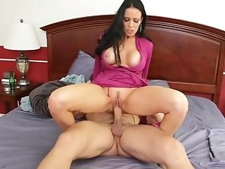 Big Boobed Mummy Mega-bitch Entices A Muscled Dude And Fucks His...