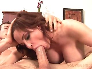 Hot Cougar With A Clean-shaven Snatch
