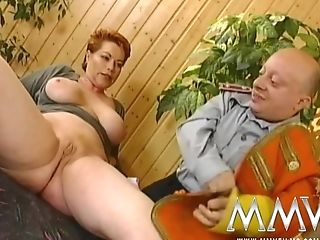 Crimson Matures Bbw Getting Fucked Hard By A Bald Dwarf In Socks
