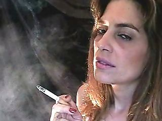 Cool Vid With Sexy Mom Smoking In A Cap And Bandana
