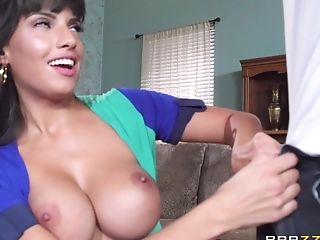 Latina Cougar In A Ligh And Dark Blue Sundress Gets Her Sweet, Raw...