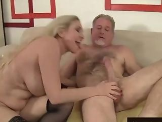 Sultry Matures Fuckfest With Big Tits Granny Cala Thirsts