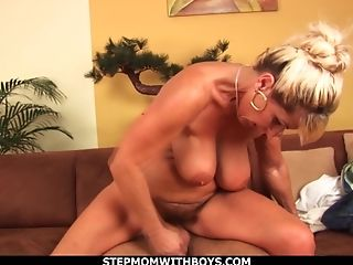 Hot Mega-bitch Deepthroats Tits Together With Beau