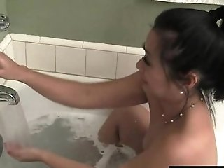 Asian Mummy Lucky Masturbating With Water