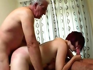 Older Guys Fuck Youthful Woman