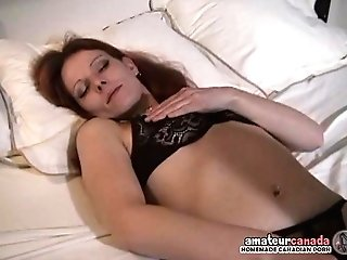 Hairy Muff Wifey Thumbs Humid Beaver With Black Underpants On At
