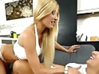 Huge-chested Granny Training Romp Lessons To A Hot Buxomy Blonde