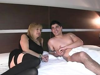 Single Blonde Mom Has Fuck-a-thon With A Slightly Legal Nubile