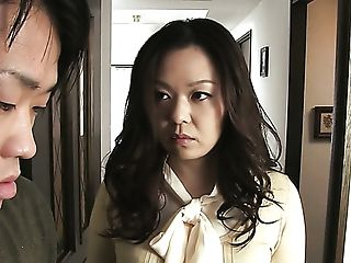 Black-haired Asian Mummy Blows Dick Of A Nerdy Youthful Man For...