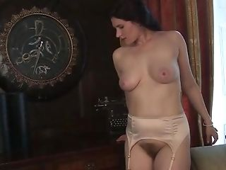 Gorgeous And Infrequent Beauty On Couch Plays With Her Hairy Cunt.