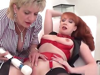 Unfaithful Brit Matures Lady Sonia Flashes Her Big Hooters
