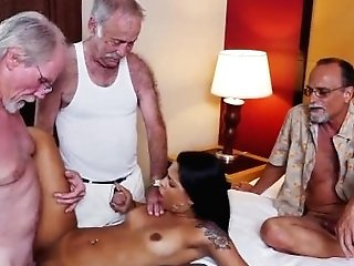 Nymph With Old Man And Old Matures