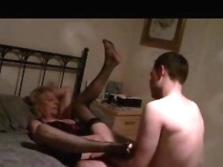 Gear Boy Slams Filthy Blonde Granny Supersluts Cooter