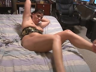 Matures Black-haired Bi-atch Takes A Thick Meat Into Her A-hole In...