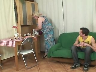 Granny Takes A Gloppy Facial Cumshot After Intercourse