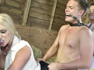 Honeys In Milky Are Getting Fucked In The Barn