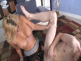 Saggy Tits Matures Blonde Strap Dildo-fucking A Fellow's Asshole