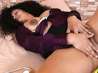 Curly Latina Matures Lady Is Glad To Pet Her Own Old Cunt A Bit