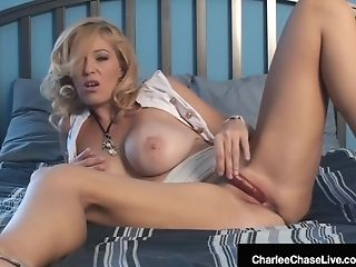 Matures Cougar Charlee Chase Vibes Her Pleasure Button Until She Cums!