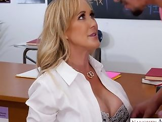 Horny Bosomy Educator Brandi Love Gives A Bj To Her Fave Student