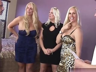 Three Cougars With Big Tits Take Two Lengthy Schlongs