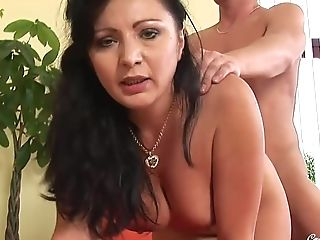 Hot Gilf Grace - Sucking Youthful Beef Whistle