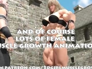 Three Dimensional Doll Muscle Growth Animation Trailer